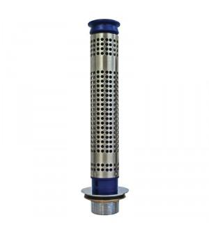 Bonde 80mm et tube de surverse avec filtre pour plonge prof 300mm