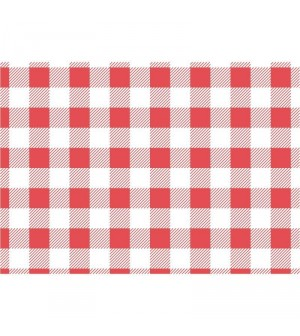 Papier sulfurisé vichy rouge 190x310mm lot de 200