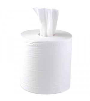 Essuie-mains blanc 2 plis à dévidage central contact alimentaire Jantex x6