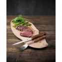 Fourchette à viande 200 mm manche en bois Olympia - Lot de 12 -