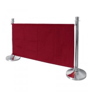 Barrière en toile rouge Bolero