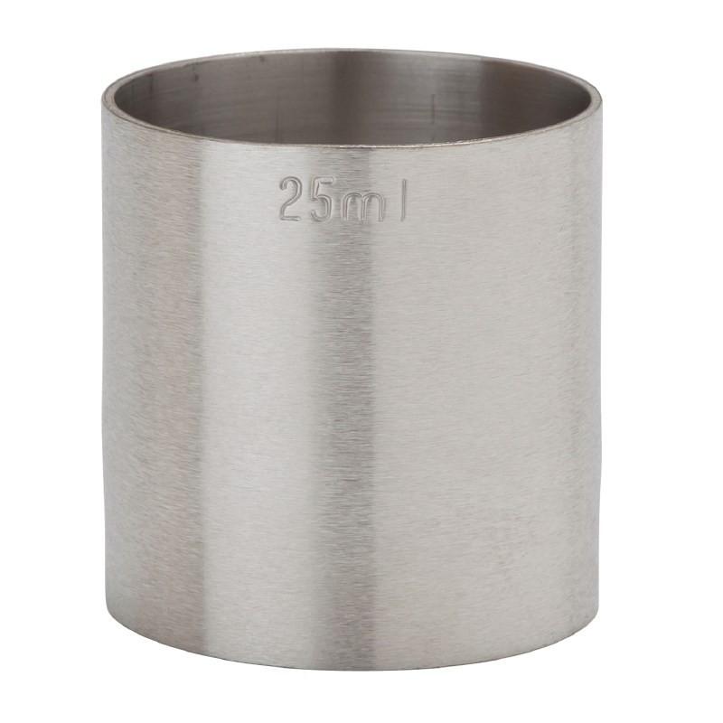 Mesure de bar en inox professionnelle estampillée CE 25 ml - Beaumont -