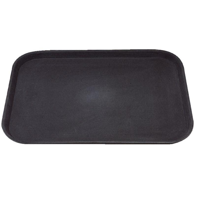 Plateau rectangulaire anti-dérapant noir - Kristallon 356 x 457 mm -