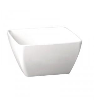 Bol carré en mélamine blanc Pure 90mm APS