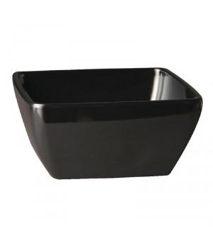 Bol carré en mélamine noir Pure 90mm APS