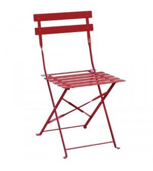Chaise de terrasse en acier rouge Bolero (lot de 2)