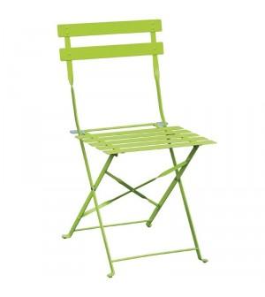 Chaise de terrasse en acier vert Bolero (lot de 2)