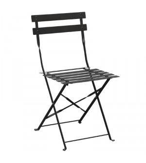 Chaise de terrasse en acier noir Bolero (lot de 2)