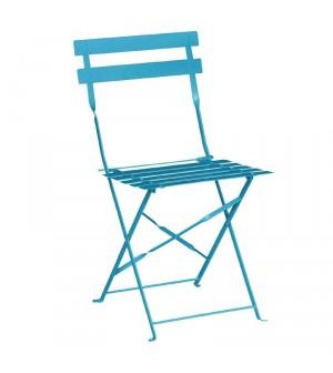 Chaise de terrasse bleu turquoise en acier Bolero lot de 2