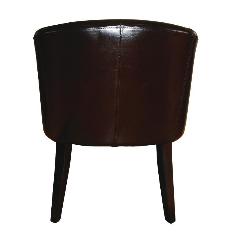 Fauteuil en simili cuir noir bolero - Fauteuil de table simili cuir ...