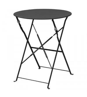 Table de terrasse en acier noir Bolero