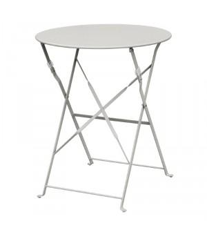Table de terrasse en acier gris Bolero