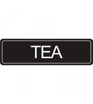 Etiquette Thé pour pichet à pompe.