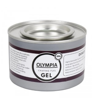 Gel combustible 200g pour chauffe-plat 2heures, 12 capsules