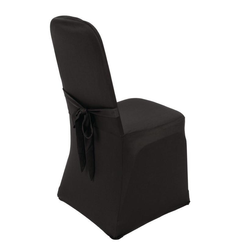 housse de chaise de banquet noire bolero. Black Bedroom Furniture Sets. Home Design Ideas