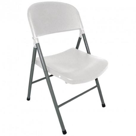 chaises pliantes bolero blanches et grises 2. Black Bedroom Furniture Sets. Home Design Ideas