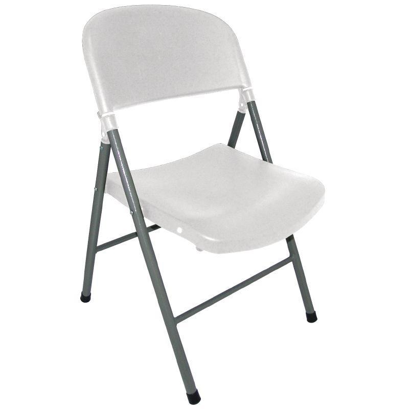 chaise pliante blanche bolero. Black Bedroom Furniture Sets. Home Design Ideas