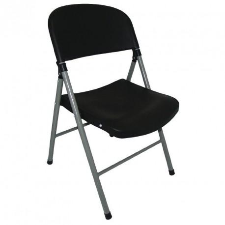 chaise pliante noire bolero. Black Bedroom Furniture Sets. Home Design Ideas