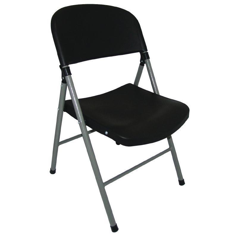 Chaises pliantes bolero noires et grises 2 for Table et chaises pliantes