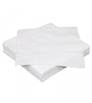 Serviettes cocktail blanches 1 pli Fiesta 250mm lot de 250