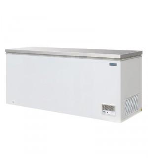 Congélateur 587L coffre avec couvercle inox Polar