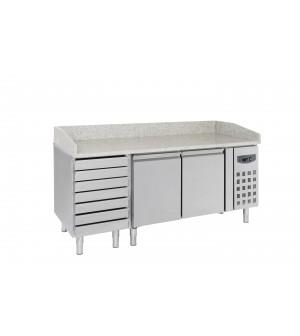 TABLE 2025(L)x 800(P)x1000(H) PIZZA 580L  2PORTES 7TIROIRS