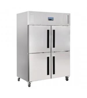 Armoire réfrigérée positive 1200L brut, 770L net double 2 portillons GN 2/1