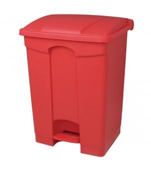 Poubelle de cuisine p dale rouge 45l - Poubelle de cuisine rouge ...