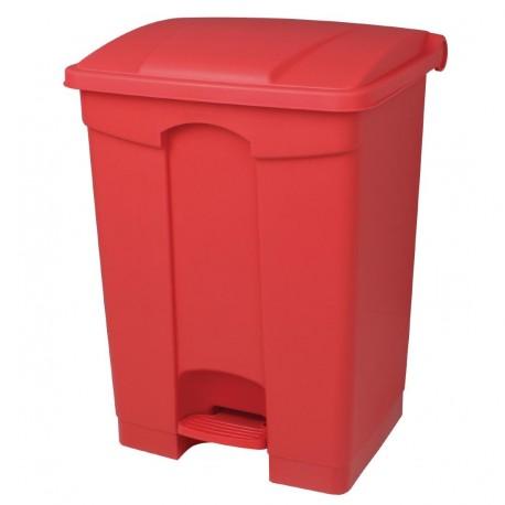 poubelle de cuisine p dale rouge 45l. Black Bedroom Furniture Sets. Home Design Ideas