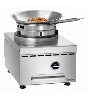 Cuisinière wok à gaz de table - 1 brûleur 11.5 kw
