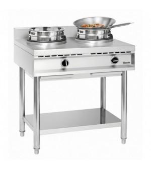 Cuisinière à wok à gaz - 2 brûleurs x 11.5 kw