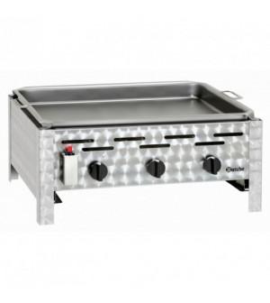 Grill à gaz de table combi - 3 brûleurs