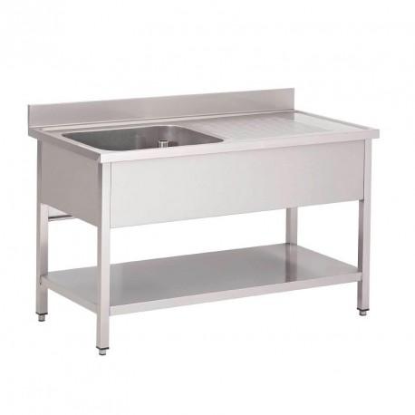table entr e lave vaisselle inox 850x1400x700mm gastro m table entr e et sortie pas cher. Black Bedroom Furniture Sets. Home Design Ideas