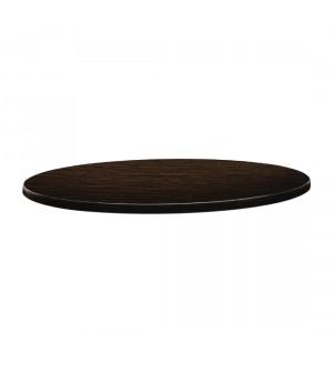 Plateau de table rond 60cm wengé