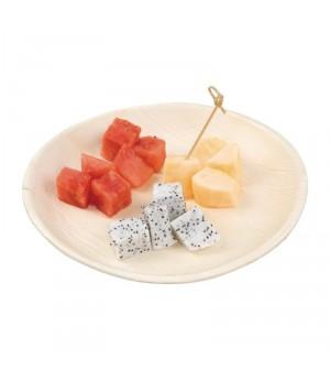 Assiettes plates rondes en feuilles de palmier 250mm
