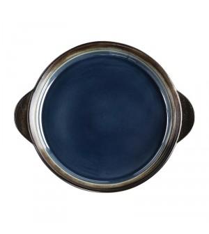 Plateaux à tapas ronds 190mm bleus