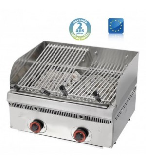 Wood steack grill gaz inclinable - L 600 mm