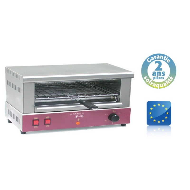 Toaster Professionnel - 505 x 250 x 80 mm - 1 étage - Large - Sofraca - ACT127