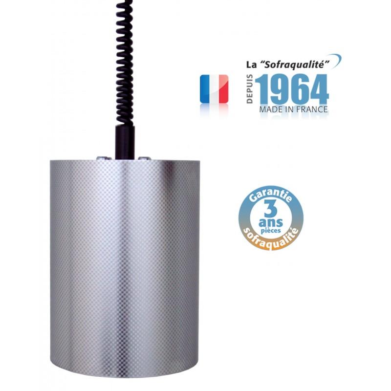 Lampe chauffante suspendue Tube - Infra-rouge - 1200 à 2100 mm - 64°C - Sofraca -