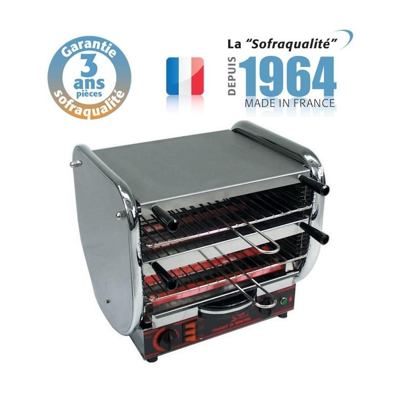Toaster Professionnel multifonction avec régulateur - Junior 2 étages - 400 V - Sofraca - 11044