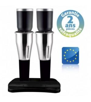 Shaker électrique professionnel - 2 Bols inox - 2x 1L