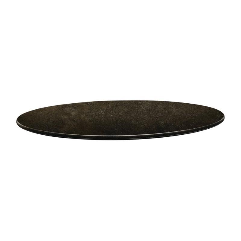 Plateau de table rond - 700 mm - Line Cyprus metal -