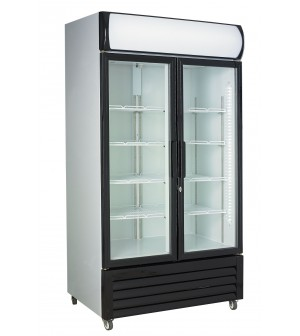 Armoire réfrigérée portes vitrées -670 l