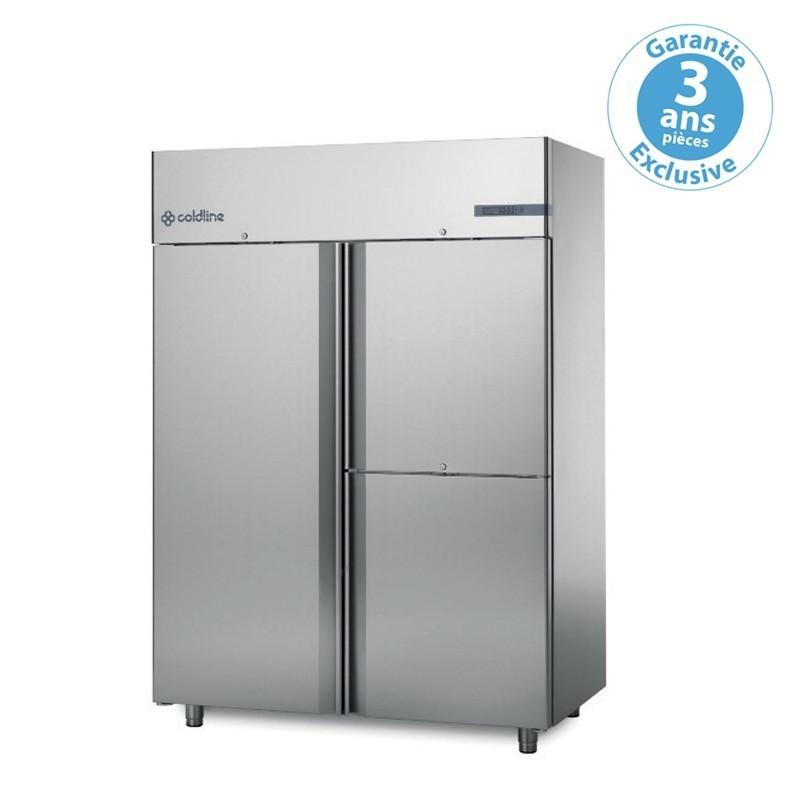 Armoire réfrigérée à double température master GN 2/1 - 1 porte + 2 portillons 1400 L sans groupe - Coldline -