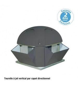 Tourelle 2 vitesses - triphasée - refoulement vertical - 5000 m³ / h sous 390 Pa