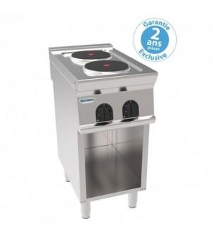 Plaque de cuisson électrique sur placard ouvert - 2 plaques rondes - gamme 700