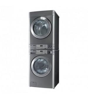 Colonne lave-linge et sèche-linge professionnel avec monnayeur à pièces intégré - 11 kg
