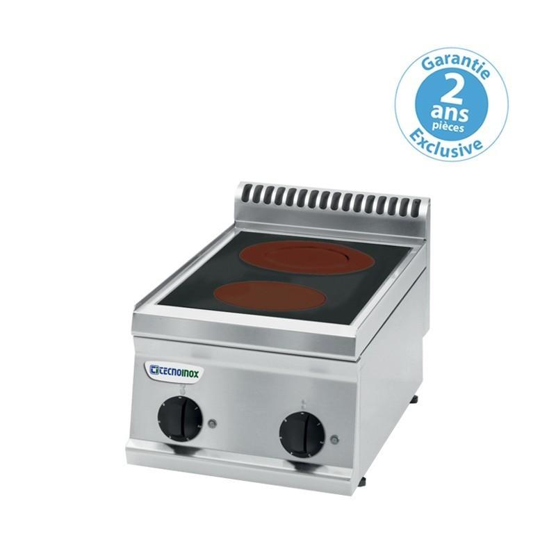 Réchaud vitrocéramique - 2 plaques - gamme 700 - Tecnoinox - PCC35E7