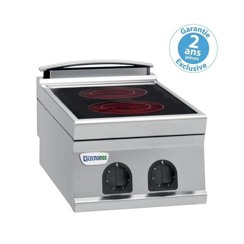 Réchaud vitrocéramique - 2 plaques - gamme 900 - Tecnoinox - PCC4E9