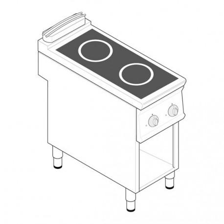 3b60c9f74f49a3 Plaque de cuisson électrique à induction - 2 plaques - gamme 900 ...